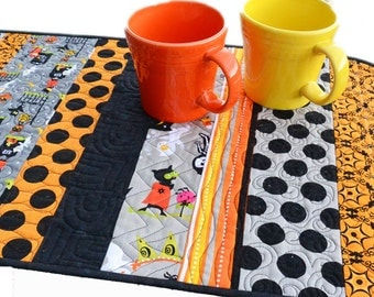 Halloween Table Runner-Black and Orange-Halloween Table Decor-Kid Friendly