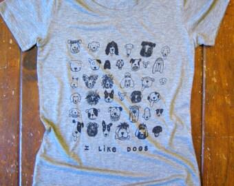 DOGS Tri Blend Womens Grey