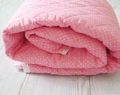 Reserved for Kelley Torbett-  Quilt for sale , baby quilt blanket , modern handmade quilt , pink blanket
