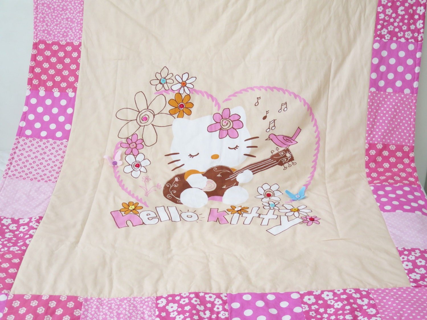 Hello kitty crib for sale - Hello Kitty Quilt Blanket Personalized Baby Blankets Personalized Quilt Homemade Quilt Baby Quilt For Sale Girl Bedding
