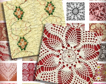 Romantic Lace 1 Inch One Inch Squares Digital Collage Pendant Images Printable Instant Download Magnets Buttons Scrabble Tiles Valentines