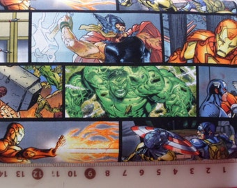 Superhero Fabric Superhero Horizontal Comic Patch Fabric Cotton Marvel Hulk Captain America Superhero Material