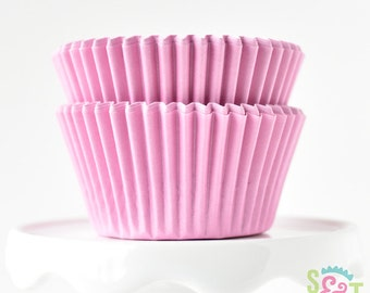 Solid Light Pink BakeBright GREASEPROOF Baking Cups Cupcake Liners | ~30 count