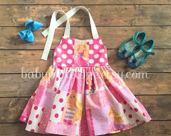 The Marilyn Dress - Barbie - Barbie Birthday Dress - Barbie Outfit - Barbie Birthday - Vintage Inspired Dress for Girl