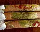 Linen Hangers, Floral Linen Hangers, Floral Padded Hangers, Floral Covered Hangers, Fall Bridesmaid Hangers, Pumpkin Floral Hanger Set of 3