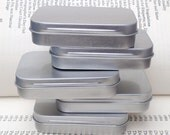 rectangular metal tins, blank hinged tins, color silver 50ml tin box, business card size