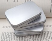 rectangular metal tins, blank hinged tins, color silver 50ml tin box, business card size (a set of 20 tins)