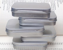 rectangular metal tins, blank hinged tins, color silver 50ml tin box, business card size