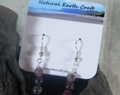 Colorful rainbow tourmaline earrings gemstone October birth stone semiprecious stone jewelry packaged in a colorful gift bag 2969 E F