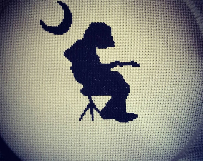 Widespread Panic Michael Mikey Houser Silhouette Needlepoint with Throw Pillow Option