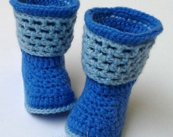 Crochet pattern baby boots - Instant download - No sewing - PDF! Full of large pictures! Pattern No. 105