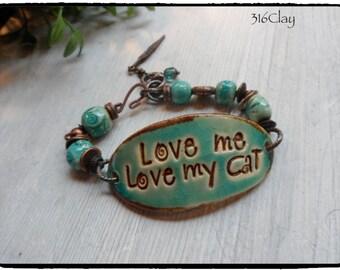 Cat Lover Bracelet Love Me Love My Cat