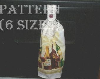 Crocheted Hanging Kitchen Towel PATTERN C-041
