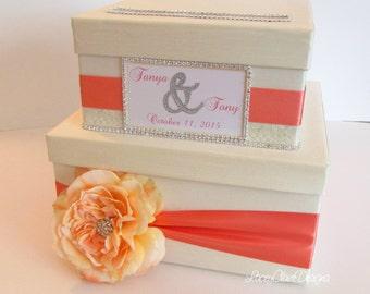 Card box for wedding custom gift card box - Cream and Champagne