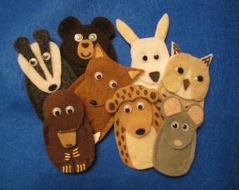 The Mitten (Ukrainian Folktale) Felt Finger Puppets