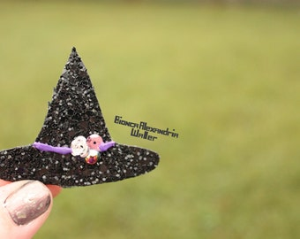 Witch Hair Clip. Halloween Hair Accessories. Witch Costume Hair Clip. Halloween Hairclip. Glitter Hair Clip. Glitter Hair Clips.