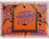 Happy Haunting- Mini Tags - Spider - Halloween Tags (8)
