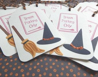 Broom Parking Tags - Halloween - Gift/Hang Tags (8)
