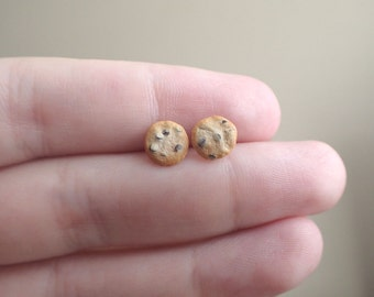 Realistic Chocolate Chip Cookie Earrings