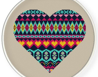 INSTANT DOWNLOAD,Free shipping Counted Cross stitch pattern,Cross-Stitch PDF,heart, zxxc0857