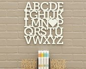 White Alphabet Letter Wood Modern Typography Nursery Wall Decor