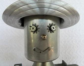 Cowboy Joe-Found Object Robot- Folk Art- Assemblage Robot- Junk Art