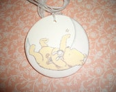 Winnie The Pooh Baby Tags - Winnie on the Moon - Sweet Image