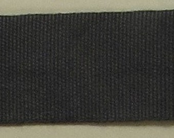 """Ribbon, 100% Organic Cotton, Sold by the Yard, 7/8"""" Wide, Hand-dyed, Blackberry"""