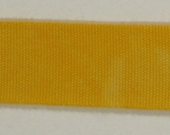 """Ribbon, 100% Organic Cotton, Sold by the Yard, 7/8"""" Wide, Hand-dyed, Dandelion"""