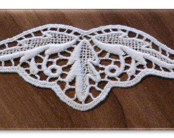 100% Organic Cotton Lace Insert, Natural, Undyed, 50mm