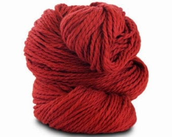 Organic Cotton Yarn Worsted, 150 Yards, Tomato