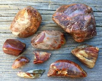 Lot of Tumbled Amphibole Quartz / Hematite Inclusion / AQ2