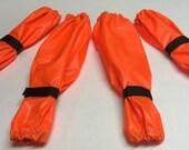 Neon Orange Dog Leg Protectors 4 piece Standard Poodle size set