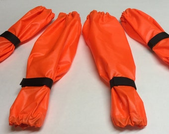 Neon Orange Dog Leg Protectors 4 piece Standard Poodle size set