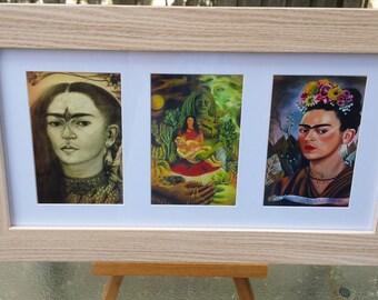 Frida Kahlo Wall Art, Self Portrait, Pencil Hummingbird, The Love Embrace of the Universe