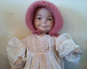 Bergner and Kestner three faced bisque doll repro