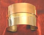 Handmade Jewelry - Metal Bracelet Cuff - Silver Copper Brass Bracelet BR111