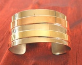 Wife Gift for Her - Mixed Metal Bracelet Cuff - Handmade Metal Jewelry for Women - Gift for Wife BR106