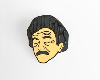 Kurt Vonnegut Enamel Pin - Literary Pin - So It Goes