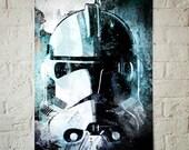 Star Wars Clone Trooper, Art Print, Star Wars Poster, Star Wars Print, Blue art, Star Wars Decor, Fan Art illustration