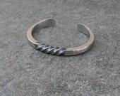 Spiral Cuff Bracelet, Men's Masculine Spiral Cuff, Forged Stainless Steel Bracelet, Twisted Cuff, Artisan Jewelry