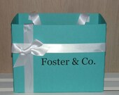 JUMBO Size Blue Personalized Name & Co. Gift Bag - Many Colors Available