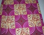 Silver Glitter Magenta African fabric per yard/ African print fabrics/ Trendy wax print fabrics/ African Maxi Skirt fabric