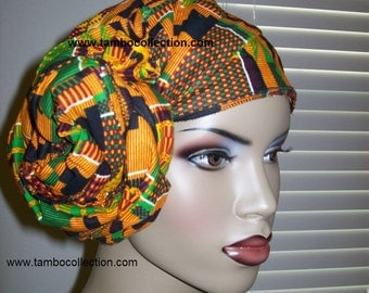 Kente #2 African head wrap fabric, Head Scarf Fabric, Extra Long/ DIY Head Wrap fabric/ African head wraps/ African hair accessory fabric
