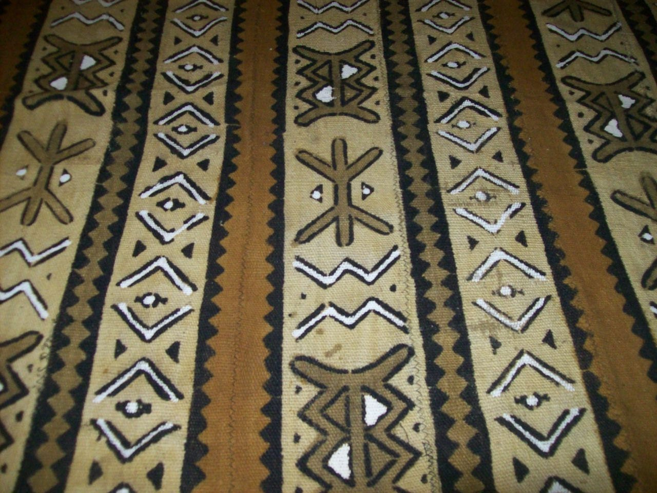 Traditional Mudcloth Bambara Mud Cloth Fabric Authentic Mud