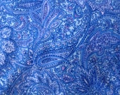 Blue Paisley Flannel Fabric