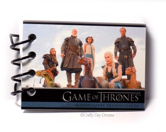 Game of Thrones Upcycled Trading Card Book