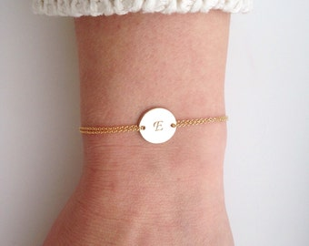 Gold Monogram bracelet, Personalized, bracelet, initials, children, mother, bridal, wedding jewelry, gift, bridesmaid