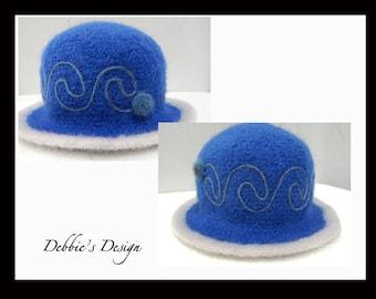 Women's Handmade Felted Cloche Hat-485 SALE Women's Handmade Felted Cloche Hat, Accessories, Hat, Handmade, cloche felt hat, Downton abbey