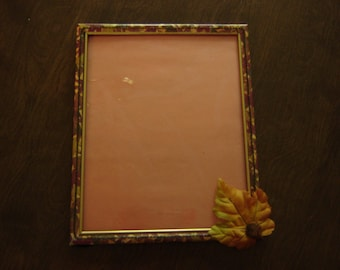 Autumn Themed Decoupage Over Wood Picture Frame for 8 X 10 Picture